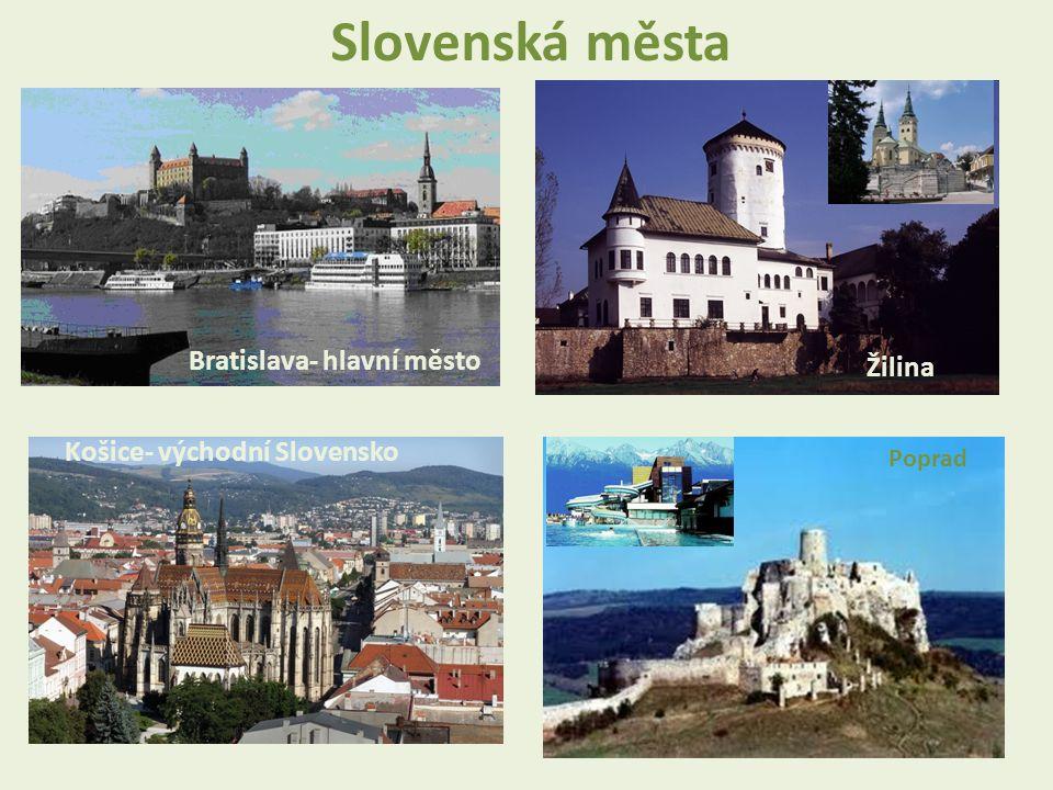 Slovenská města Bratislava- hlavní město Žilina