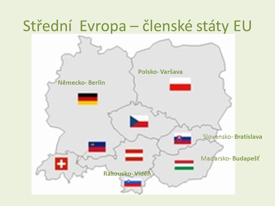 Střední Evropa – členské státy EU