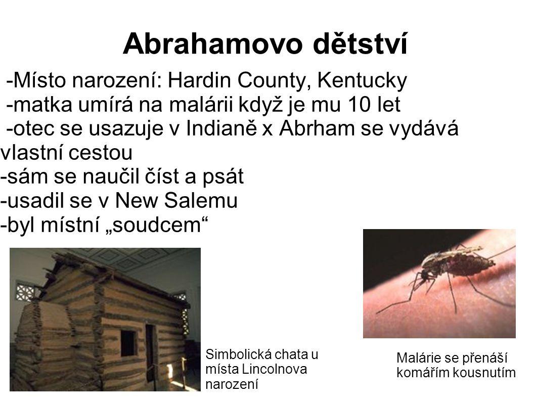 Abrahamovo dětství -Místo narození: Hardin County, Kentucky