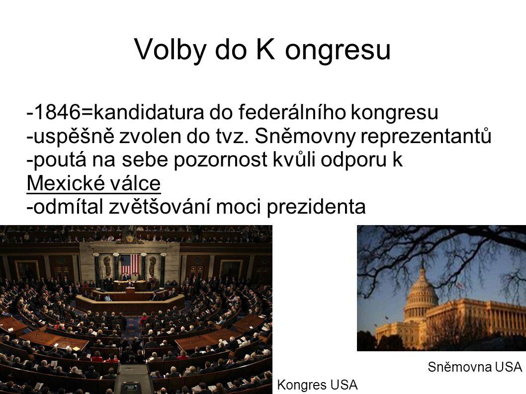 Volby do K ongresu -1846=kandidatura do federálního kongresu