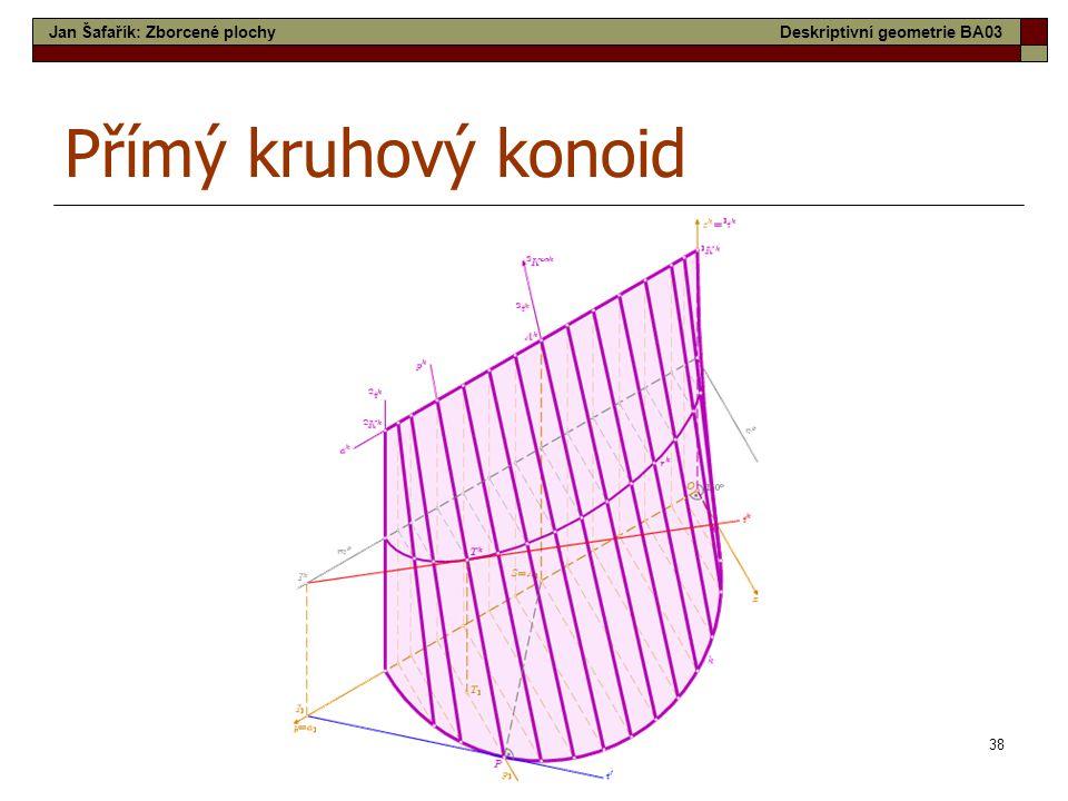 Přímý kruhový konoid Jan Šafařík: Zborcené plochy