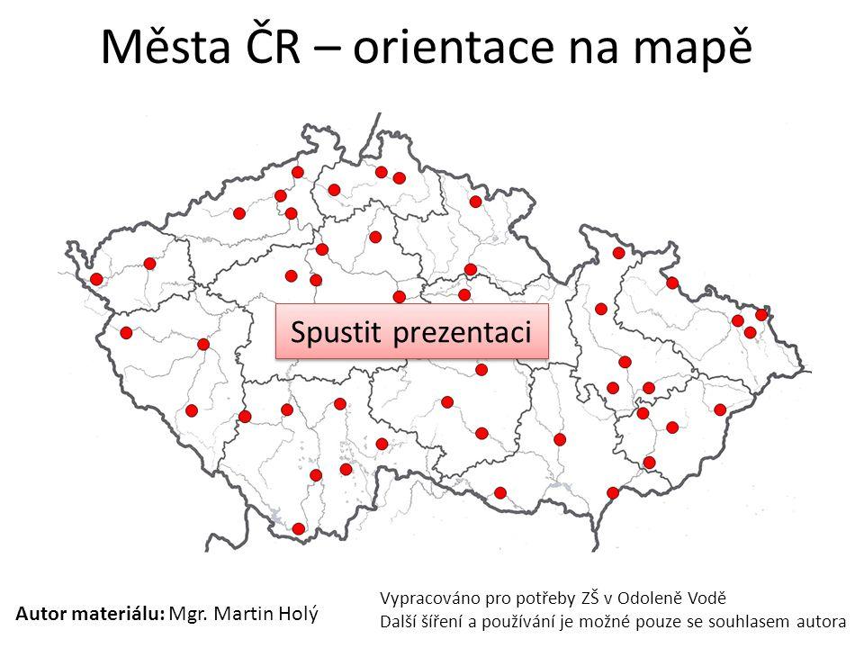 Města ČR – orientace na mapě