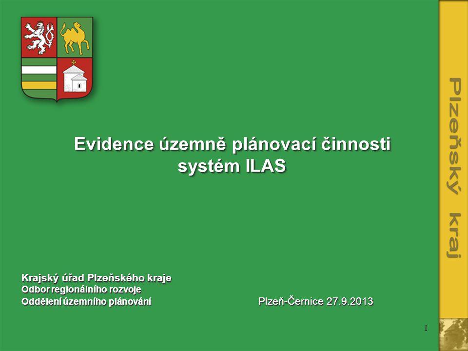 Evidence územně plánovací činnosti systém ILAS
