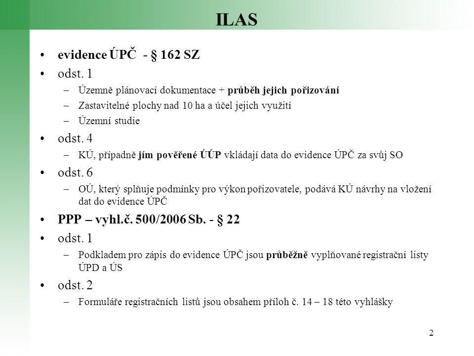 ILAS evidence ÚPČ - § 162 SZ odst. 1 odst. 4 odst. 6