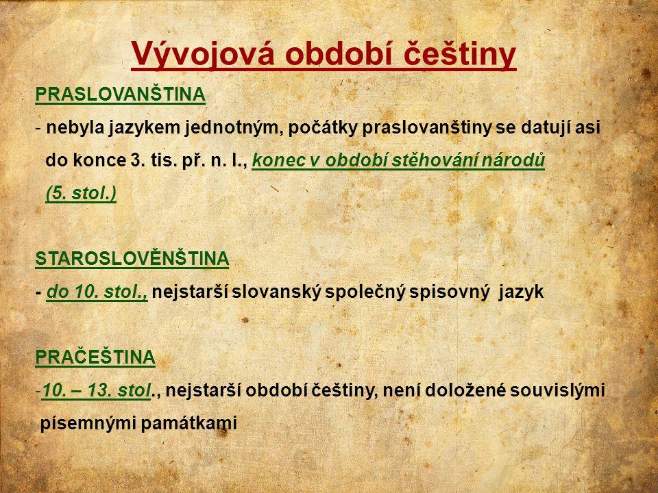 Vývojová období češtiny