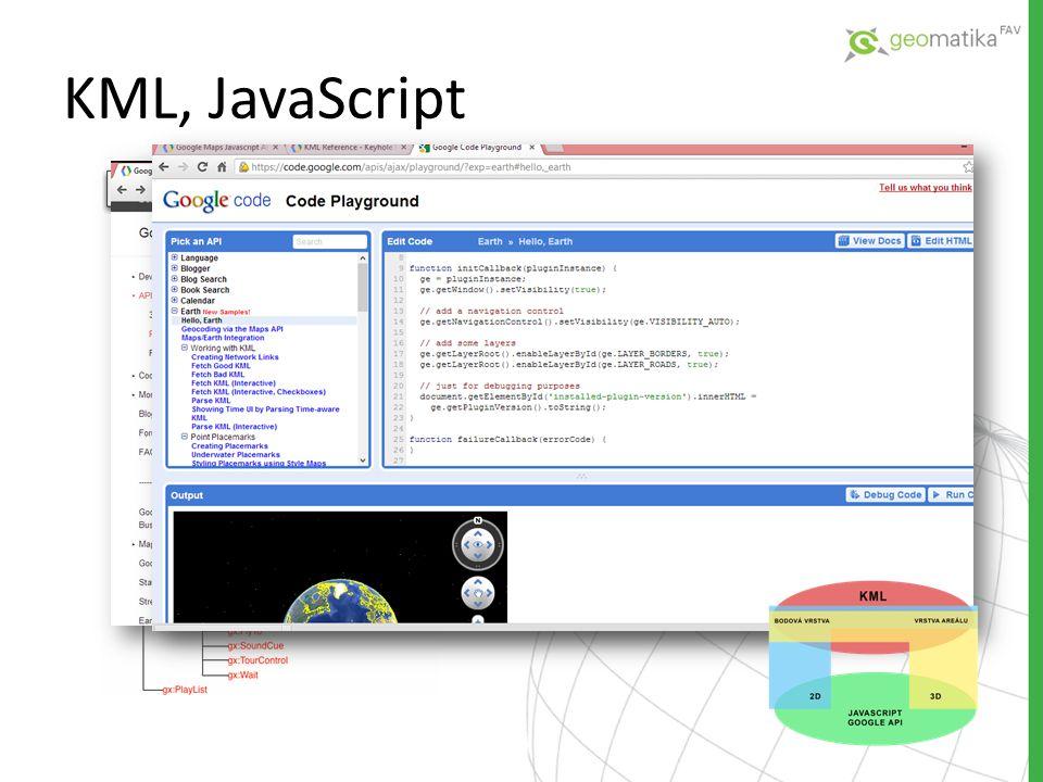 KML, JavaScript