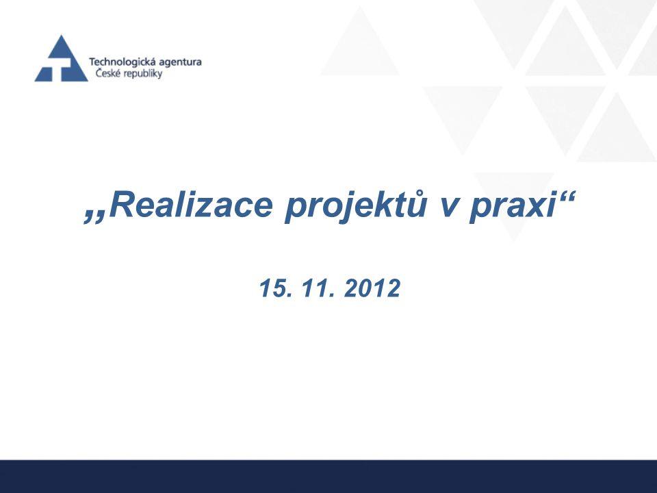 """""""Realizace projektů v praxi 15. 11. 2012"""