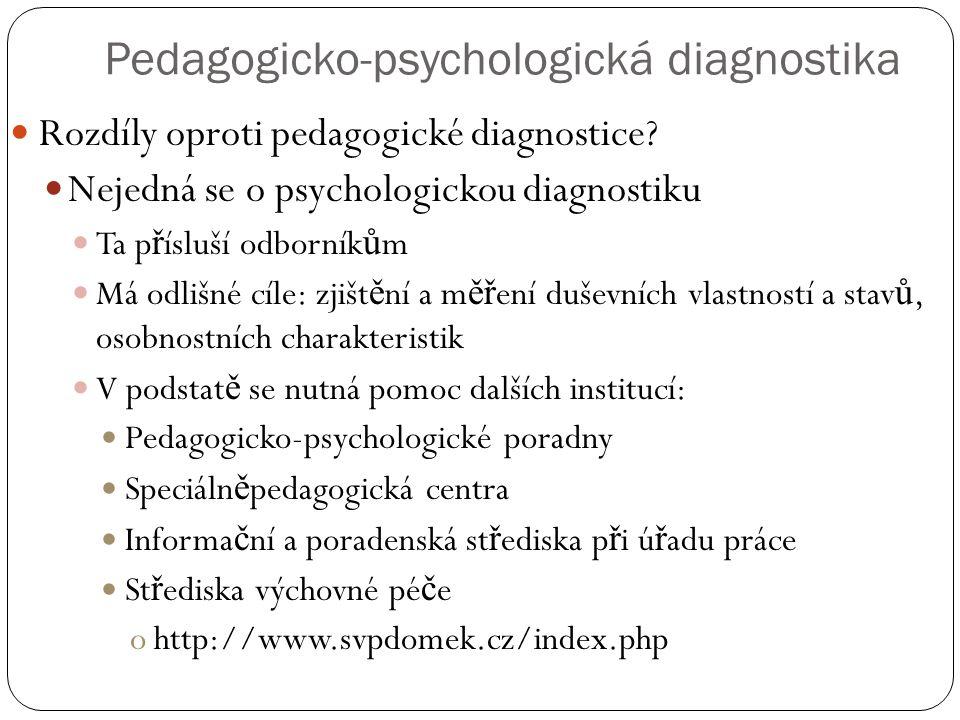 Pedagogicko-psychologická diagnostika