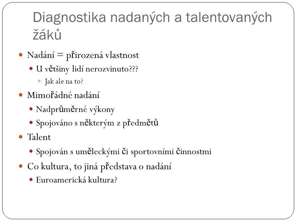 Diagnostika nadaných a talentovaných žáků