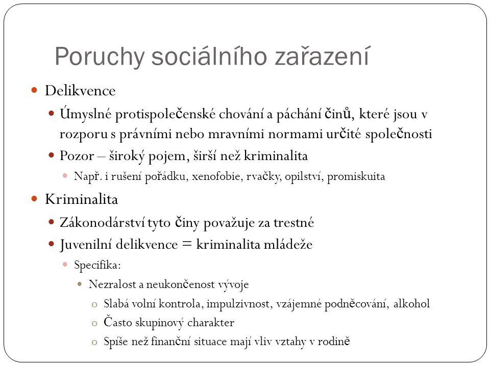 Poruchy sociálního zařazení