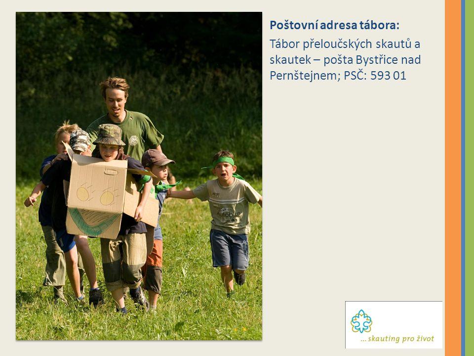 Poštovní adresa tábora: