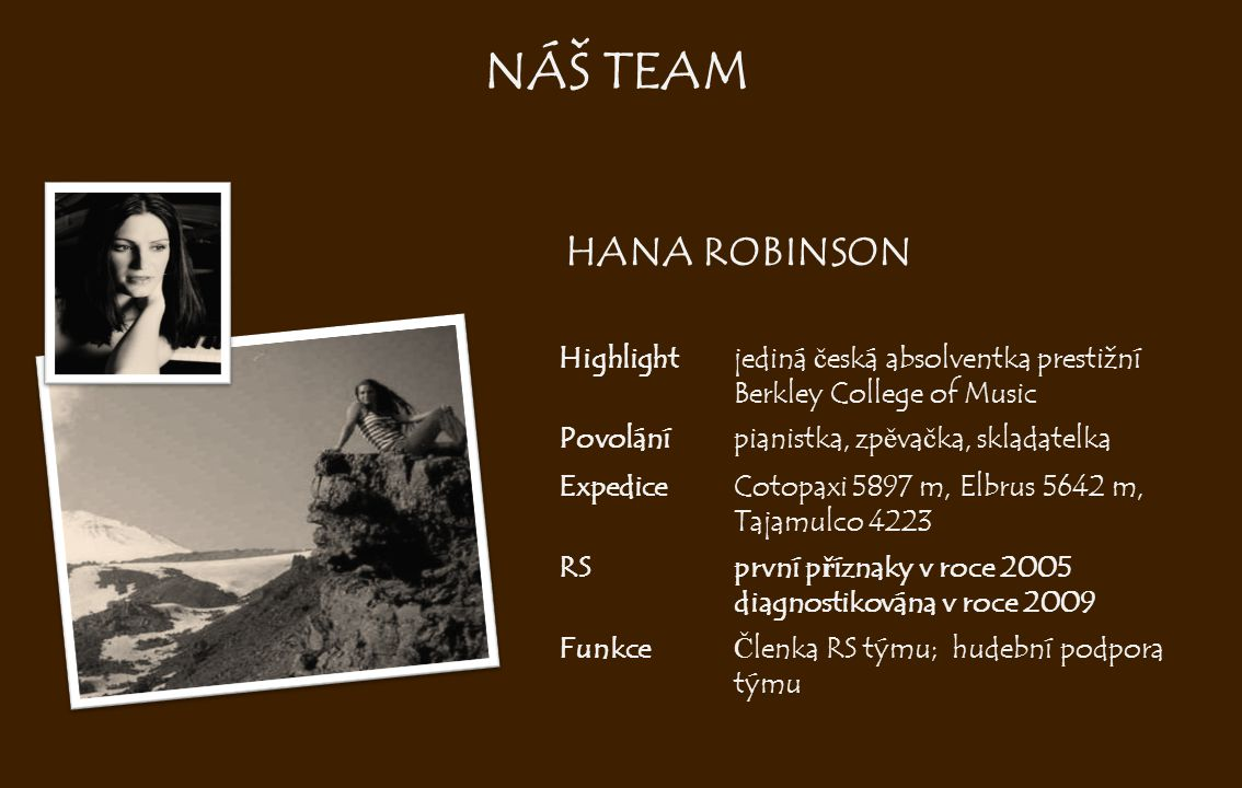 NÁŠ TEAM HANA ROBINSON Highlight