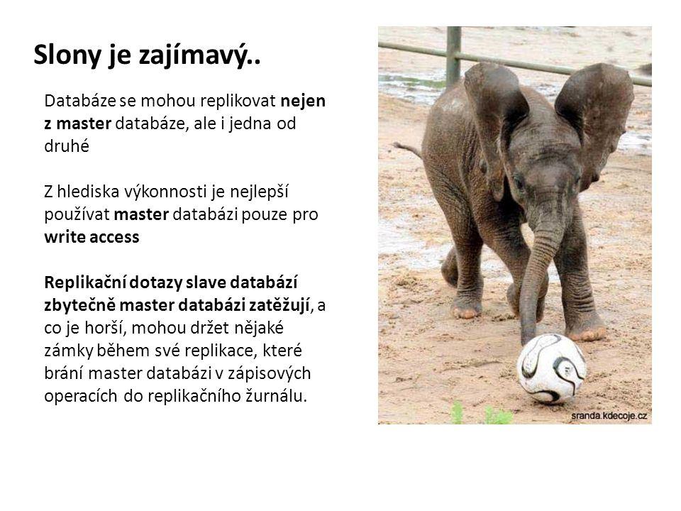 Slony je zajímavý.. Databáze se mohou replikovat nejen z master databáze, ale i jedna od druhé.