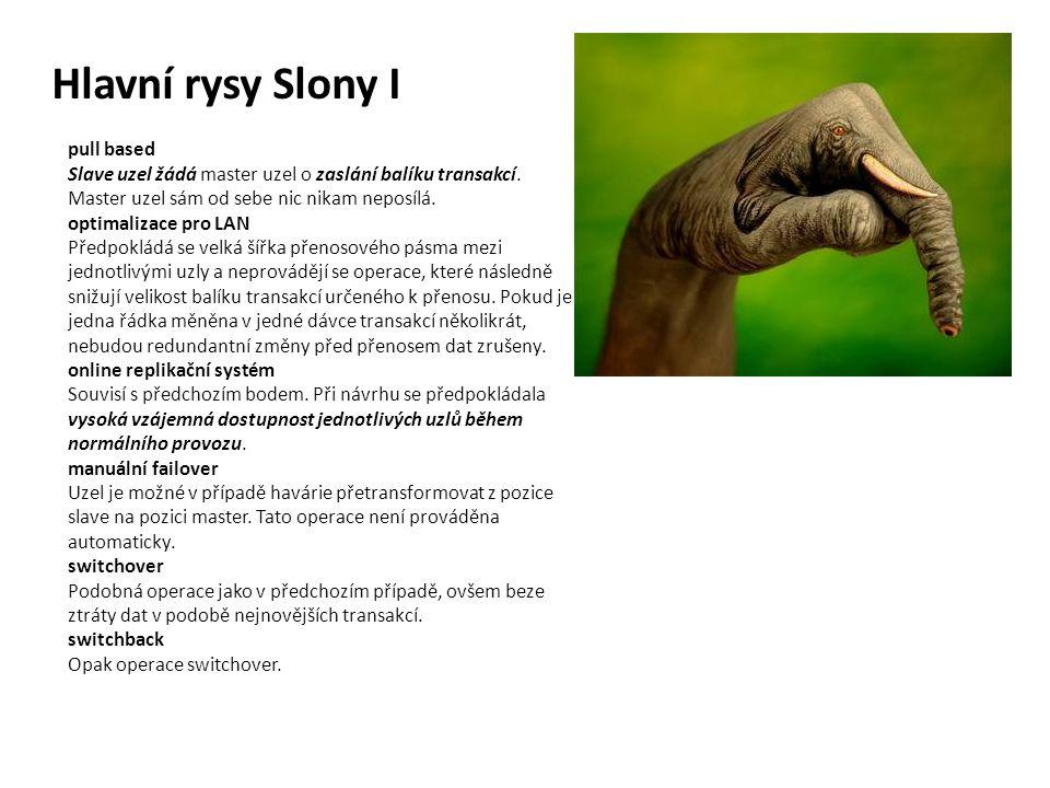 Hlavní rysy Slony I pull based