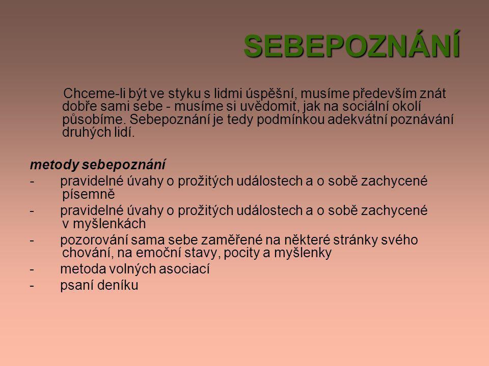 SEBEPOZNÁNÍ