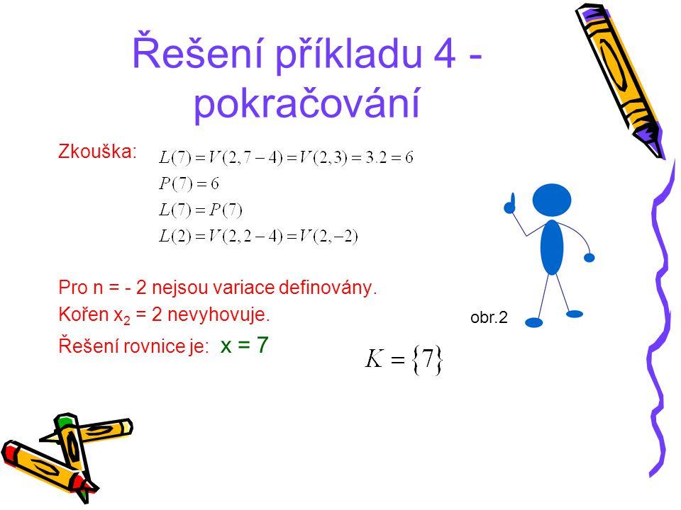 Řešení příkladu 4 - pokračování