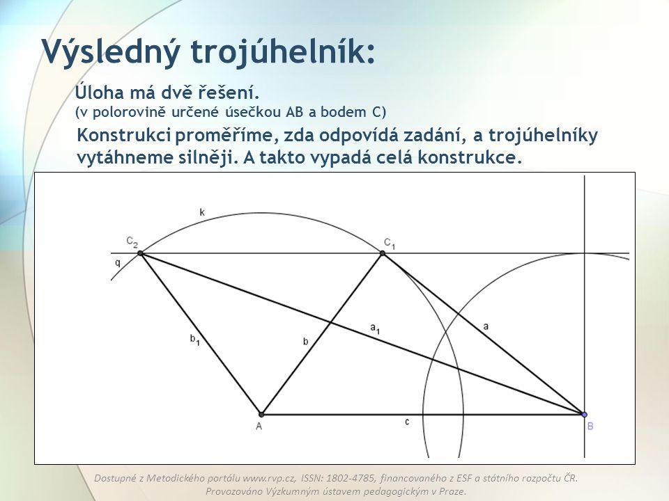 Výsledný trojúhelník: