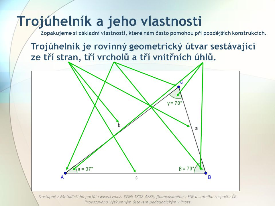 Trojúhelník a jeho vlastnosti