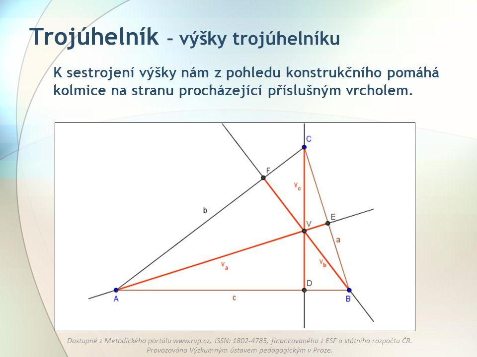 Trojúhelník – výšky trojúhelníku