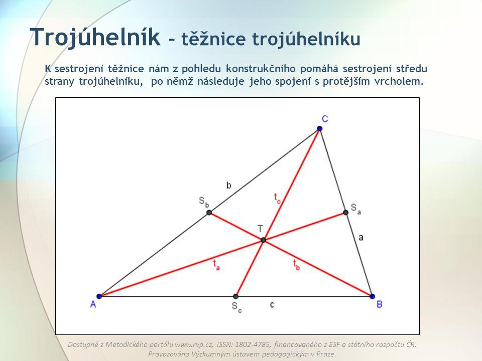 Trojúhelník – těžnice trojúhelníku