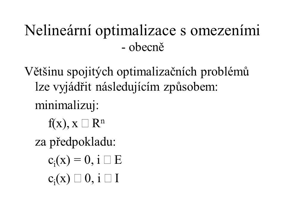 Nelineární optimalizace s omezeními - obecně