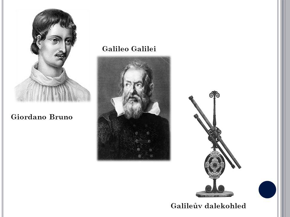 Galileo Galilei Giordano Bruno Galileův dalekohled