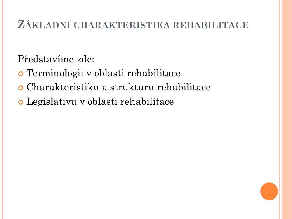 Základní charakteristika rehabilitace