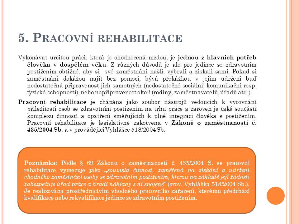 5. Pracovní rehabilitace