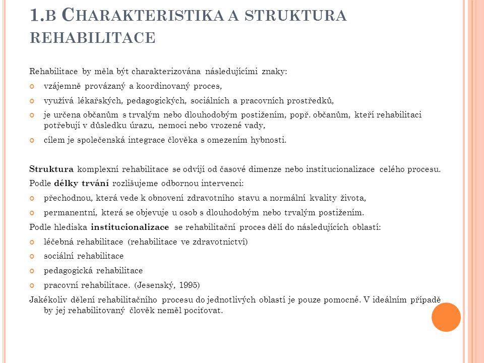 1.b Charakteristika a struktura rehabilitace