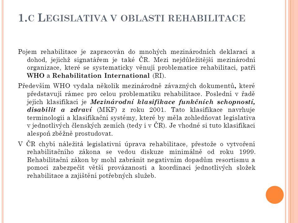 1.c Legislativa v oblasti rehabilitace