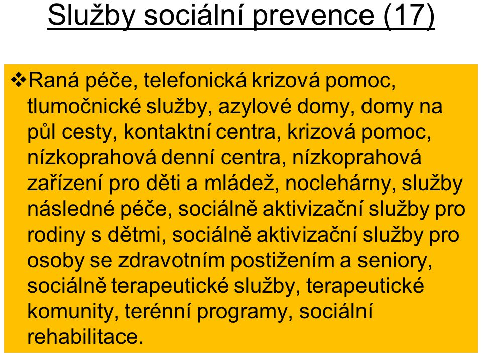 Služby sociální prevence (17)