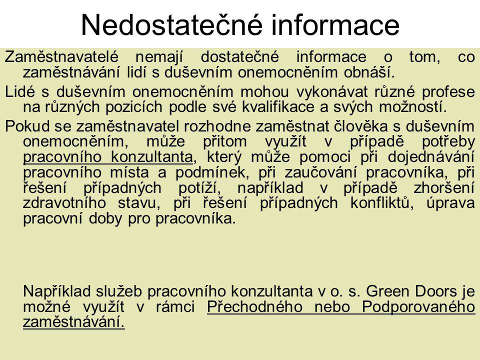 Nedostatečné informace