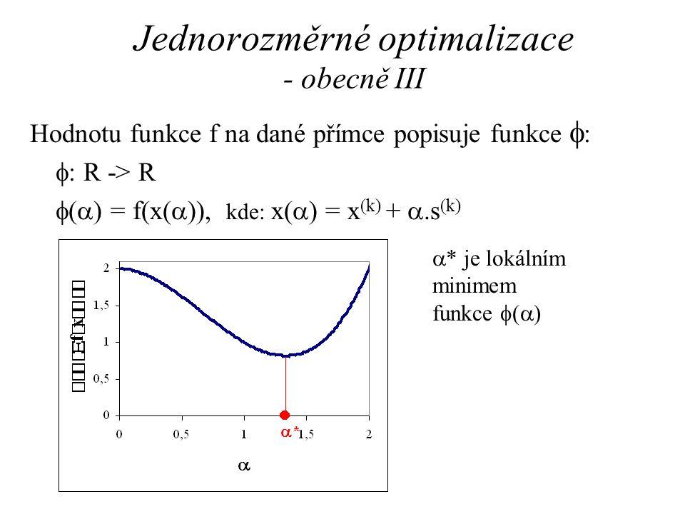 Jednorozměrné optimalizace - obecně III