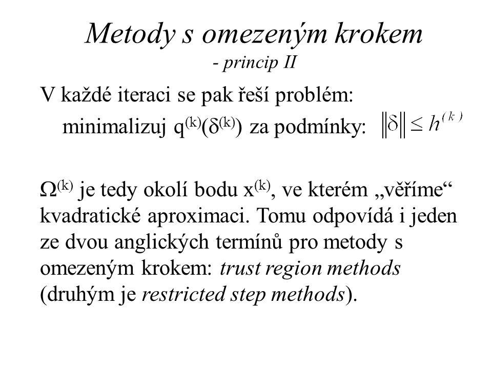 Metody s omezeným krokem - princip II