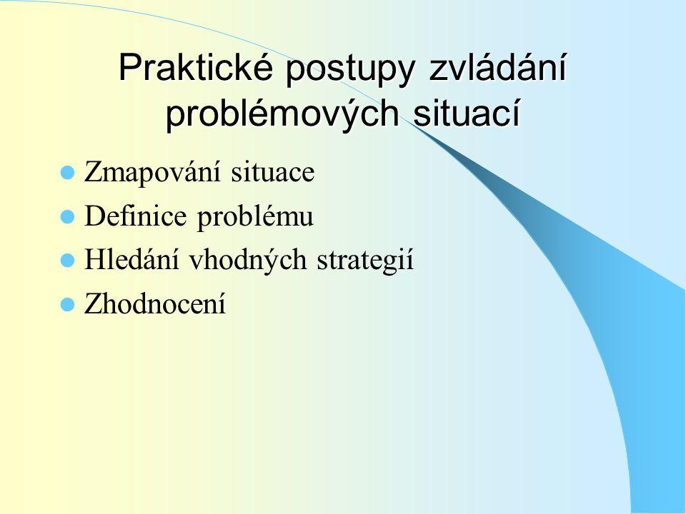 Praktické postupy zvládání problémových situací