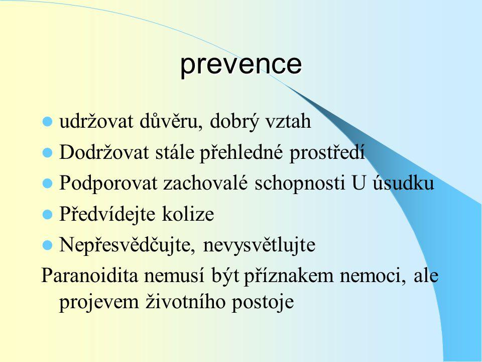 prevence udržovat důvěru, dobrý vztah
