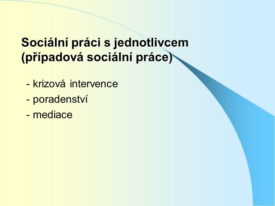 Sociální práci s jednotlivcem (případová sociální práce)