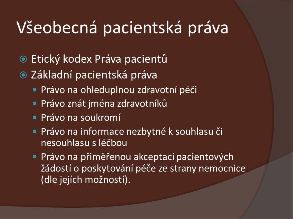 Všeobecná pacientská práva