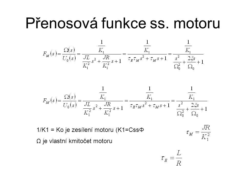 Přenosová funkce ss. motoru
