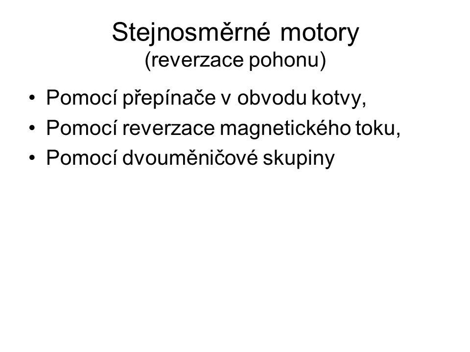 Stejnosměrné motory (reverzace pohonu)