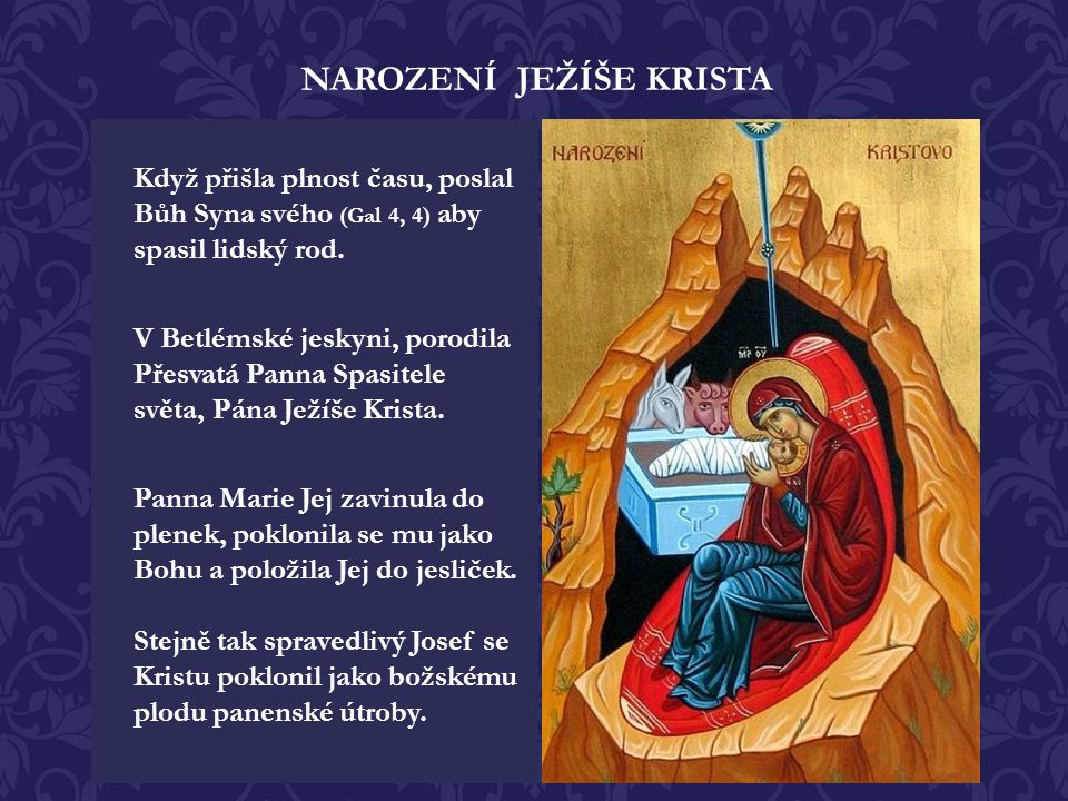 NAROZENÍ JEŽÍŠE KRISTA