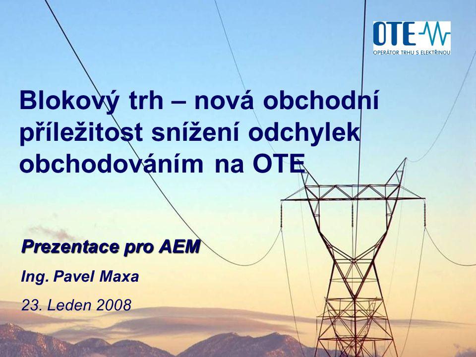 Prezentace pro AEM Ing. Pavel Maxa 23. Leden 2008