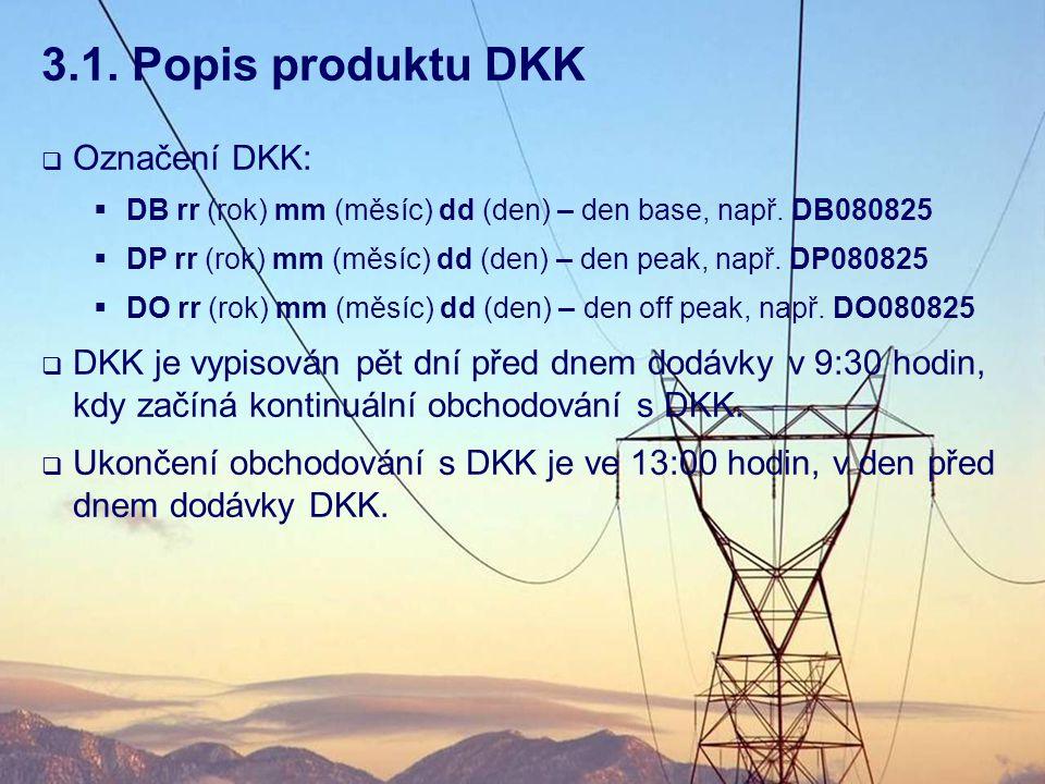 3.1. Popis produktu DKK Označení DKK: