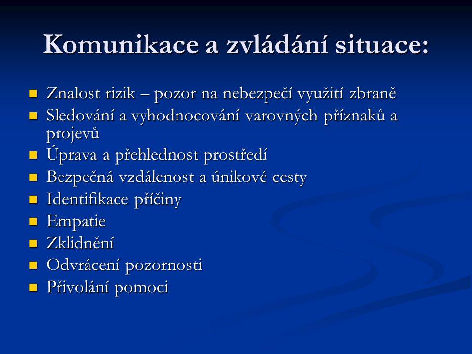 Komunikace a zvládání situace:
