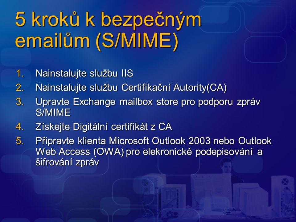 5 kroků k bezpečným emailům (S/MIME)