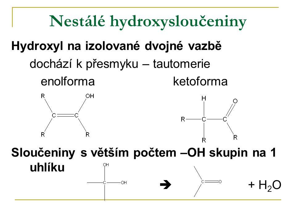 Nestálé hydroxysloučeniny