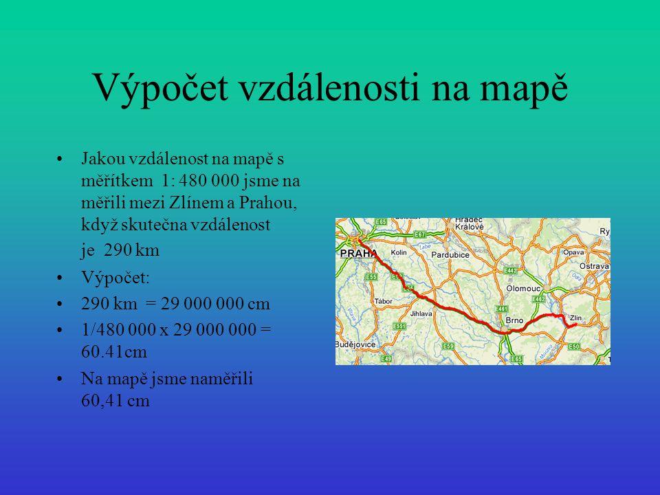 Výpočet vzdálenosti na mapě