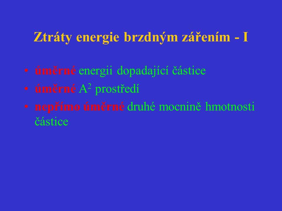 Ztráty energie brzdným zářením - I