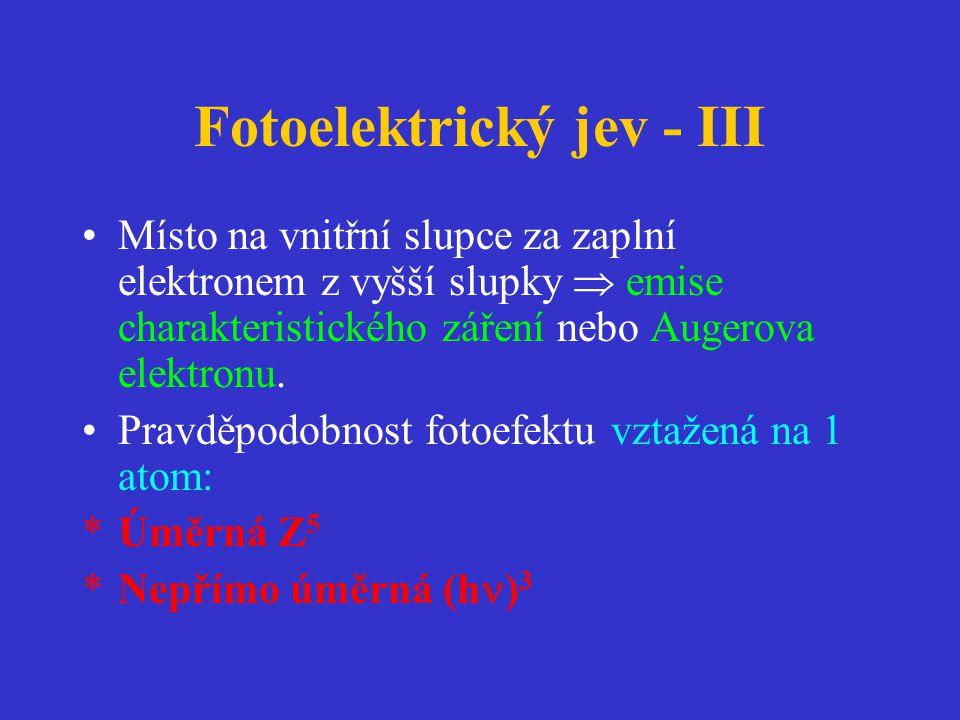 Fotoelektrický jev - III