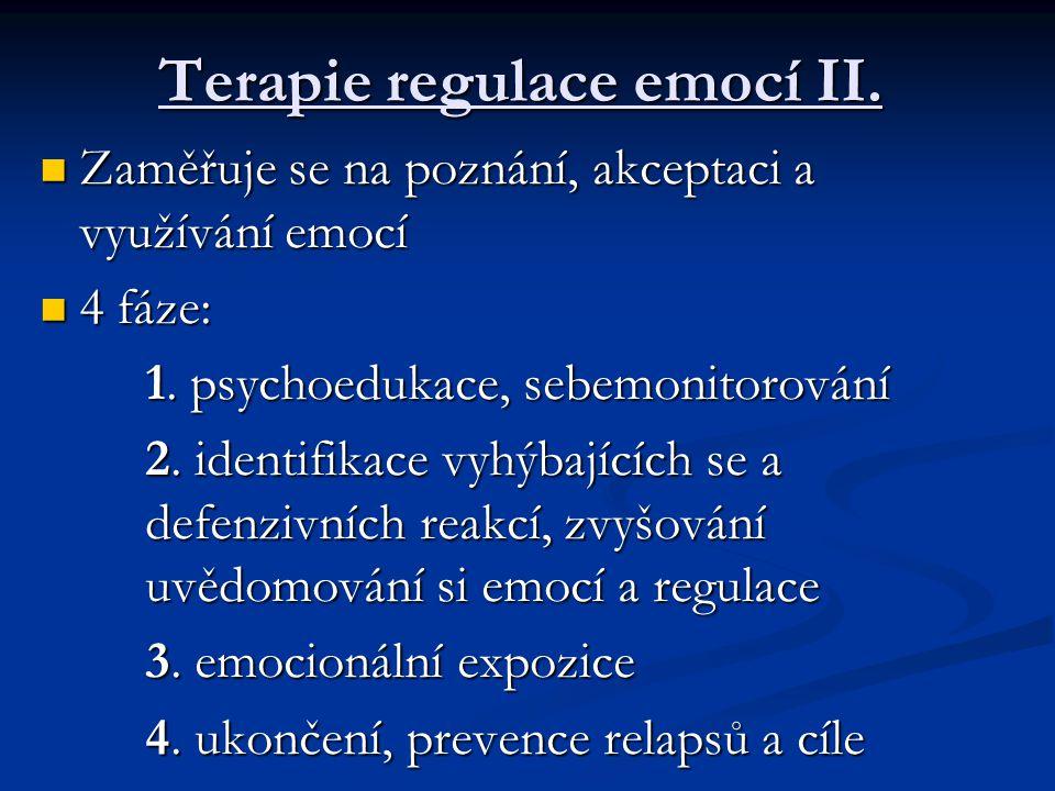 Terapie regulace emocí II.